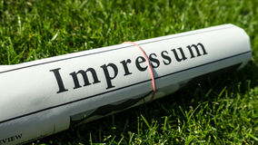 Impressum newspaper Stock Photography