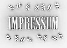 Impressum Paragraphs Royalty Free Stock Photography