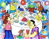 impreza urodzinowa. ilustracja wektor