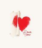 Imprima el corazón ilustración del vector