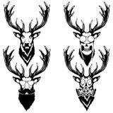 Imprima en el ejemplo aislado ` de la camiseta de un ` de la cabeza de los ciervos Foto de archivo libre de regalías