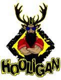 Imprima en un ` del gamberro del ` de la camiseta que representa un ciervo libre illustration