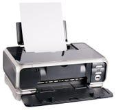 Imprimante à jet d'encre chargée Image libre de droits