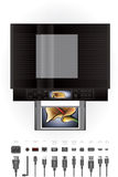 Imprimante à jet d'encre de bureau/photocopieur illustration stock