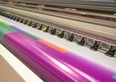 imprimante à jet d'encre de Large-format photographie stock libre de droits