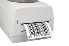 imprimante d'étiquette de code barres Images libres de droits