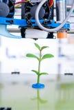 imprimante 3d du dispositif pendant le processe Élevage de jeune usine Photo libre de droits