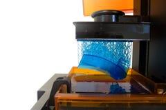 Imprimante 3D fonctionnante Photographie stock libre de droits