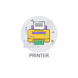 Imprimante de bureau Modern Device Icon Photo stock