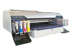 Imprimante de grand format photographie stock libre de droits