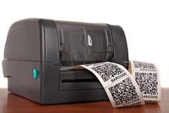Imprimante de label de code barres Photos libres de droits