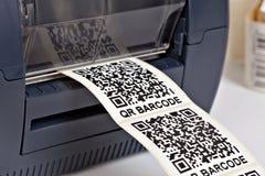 Imprimante de label de code barres Image libre de droits