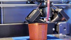 Imprimante tridimensionnelle du plastique 3d Image stock