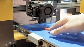 Imprimante tridimensionnelle du plastique 3d Photographie stock