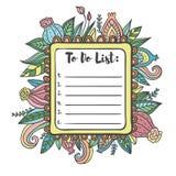 Imprimible para hacer la página de la lista Foto de archivo libre de regalías