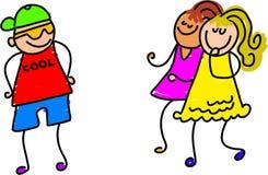 Imprimindo as meninas ilustração do vetor