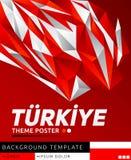 Turkiye Turkey theme modern poster, vector template illustration, turkish flag colors stock illustration