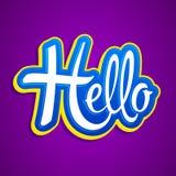 Hello Emblem vector Lettering illustration. Eps available vector illustration