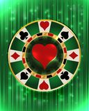 Casino vip poker hearts chip, vector stock illustration