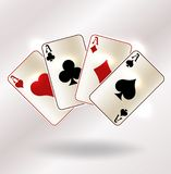 Casino poker cards vip background, vector. Illustration royalty free illustration