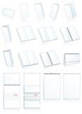 Imprimir-pressione a produção de papel. Folhetos, livretos Fotografia de Stock