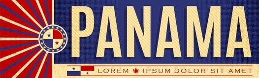 ImprimirPanama sztandaru patriotyczny projekt, typograficzna wektorowa ilustracja, Panamanians flaga barwi ilustracji