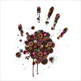 Imprint abstrato da mão ilustração royalty free