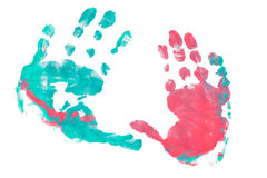 Imprint child hands Royalty Free Stock Images