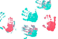 Imprint child hands Stock Photos