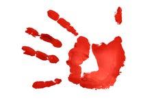 Imprint da mão ilustração royalty free