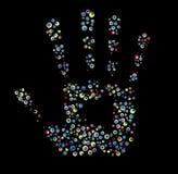 Imprint da mão. ilustração do vetor