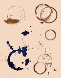 Imprint do selo das canecas de café ilustração do vetor