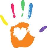 Imprint do vetor da mão imagens de stock royalty free