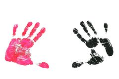 Imprint Hands Royalty Free Stock Photography