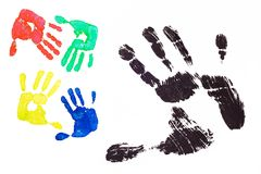 Imprint hands Stock Photography