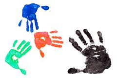 Imprint hands Stock Photo