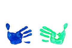 Imprint hands Royalty Free Stock Images