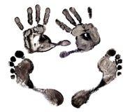 Imprint hands and foot Stock Photos