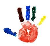Imprint hands Stock Image