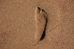 Imprint of human feet Stock Images
