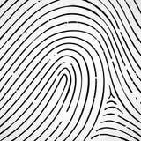 Imprint a human finger Royalty Free Stock Photos