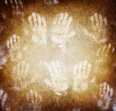 Imprint of human hands Royalty Free Stock Photo