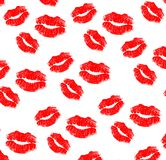 Imprint of lipstick Royalty Free Stock Photography