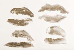 Imprint of lipstick Stock Images