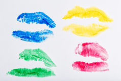 Imprint of lipstick Stock Photos