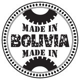 Imprint of Made in Bolivia Stock Images