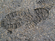 Imprint of man on the ground Royalty Free Stock Images