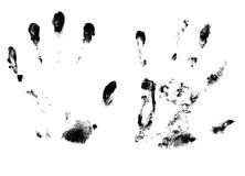 imprint of the palm Royalty Free Stock Photos