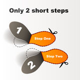 Imprint short steps Royalty Free Stock Photography