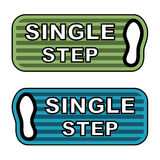 Imprint single step labels Royalty Free Stock Photos